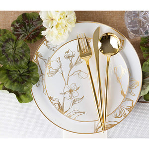 NOVELTY FLATWARE DINNER FORKS GOLD