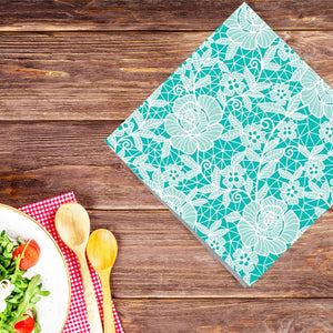 Blue Beauty Disposable Lunch Paper Napkins