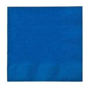 Blue Beverage Napkins Party Dimensions