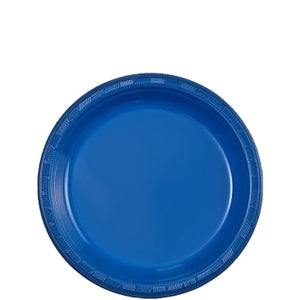 "Blue Plastic Plate 7"" Party Dimensions"