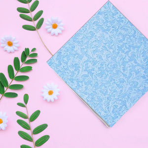 Blue Texture Beverage Napkins