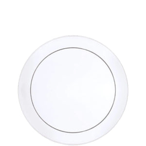 "Buffet Heavyweight plastic Plate Clear 6"" Hanna K Signature"