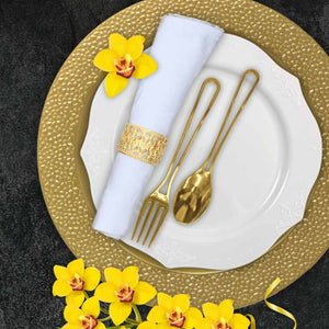 Modern Collection Contemporary Handle Design Polished Spoons Gold