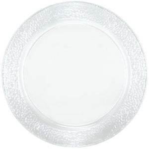 "Clear Pebbled 13.5"" Clear Plastic Tray 2Pk Lillian"