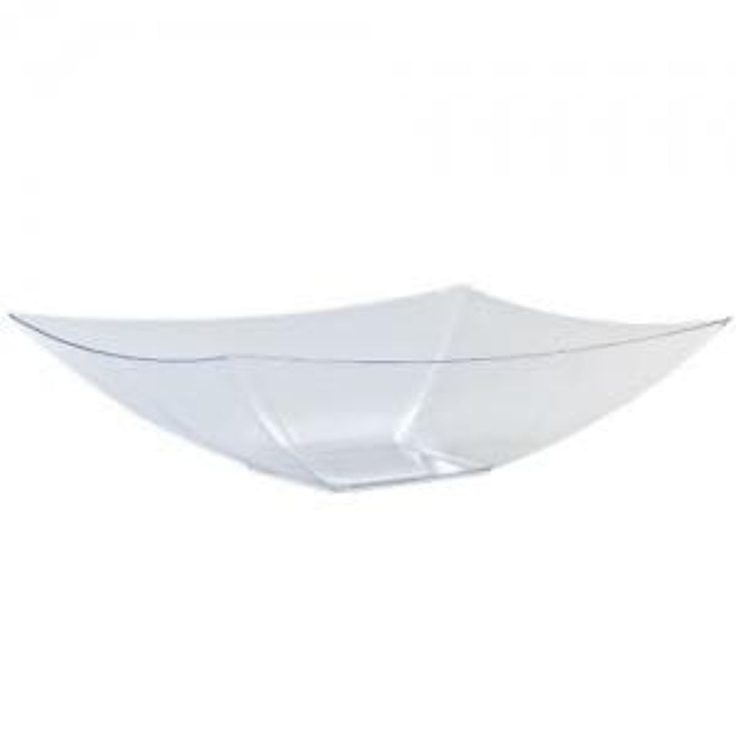 Clear Rectangular Plastic Serving Bowl 128 oz Lillian