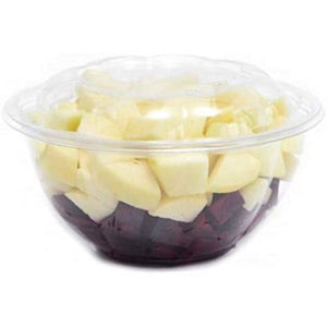 Clear Plastic Salad Bowl with Lid 24 oz 10PK