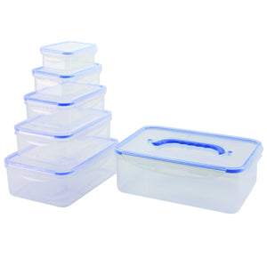 Nicole Home Collection Multi Premium Heavy Weight Plastic Clear Containers