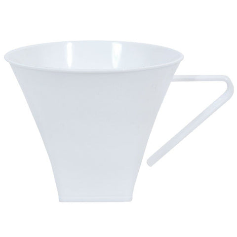 Mug Flared Pearl Plastic Square Coffee 8 oz 8pk