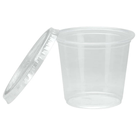 Nicole Home Collection Portion Cups with Lids Clear 5.5 oz 30Ct