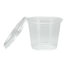 Nicole Home Collection Portion Cups with Lids Clear 4 oz 36Ct