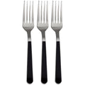 SALE Duo Fancy Handle Plastic Cutlery Forks Silver Black 20PK