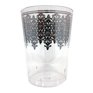 Ornament Crystal Tumblers Clear  Silver 10oz 10Ct - OnlyOneStopShop