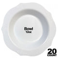 Antique Collection Plastic Bowls White 12 oz