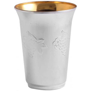 Silver Collection wine Kiddush cup / kiddish cup Superior Heavy Weight 5.5 oz 10Ct