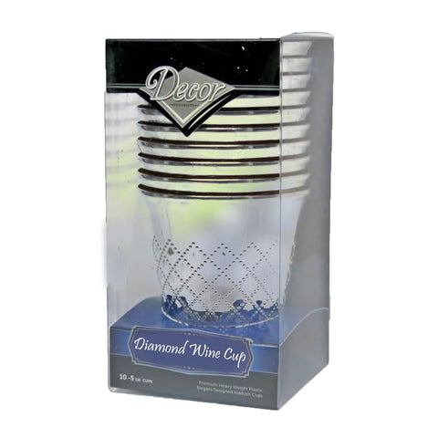 Diamond Kiddush Cups Silver 10PC