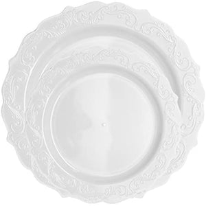 Elegant Collections Dinner Plate White 10.25""