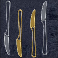 Modern Collection Contemporary Handle Design Knives Silver