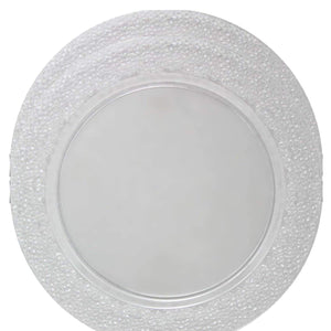 Charger Hammered Design Plates Clear 13""