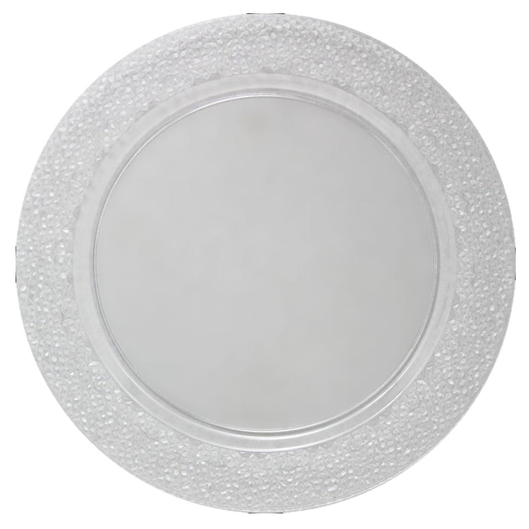 Charger Hammered Design Plates Clear 13