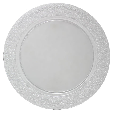 "Charger Hammered Design Plates Clear 13"" 2Pk - OnlyOneStopShop"