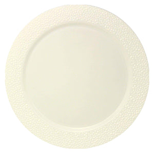 Charger Hammered Design Plates Cream 13""