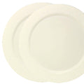 Charger Hammered Design Plates Cream 13