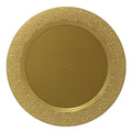 Charger Hammered Design Plates Gold 13