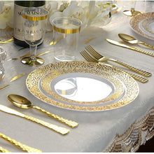 Glamour Collection Extra Heavyweight Disposable Forks Gold