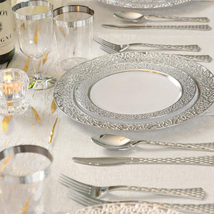 Glamour Collection Extra Heavyweight Disposable Forks Silver