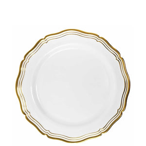 Aristocrat Collections Salad Plate White & Gold 7.5""