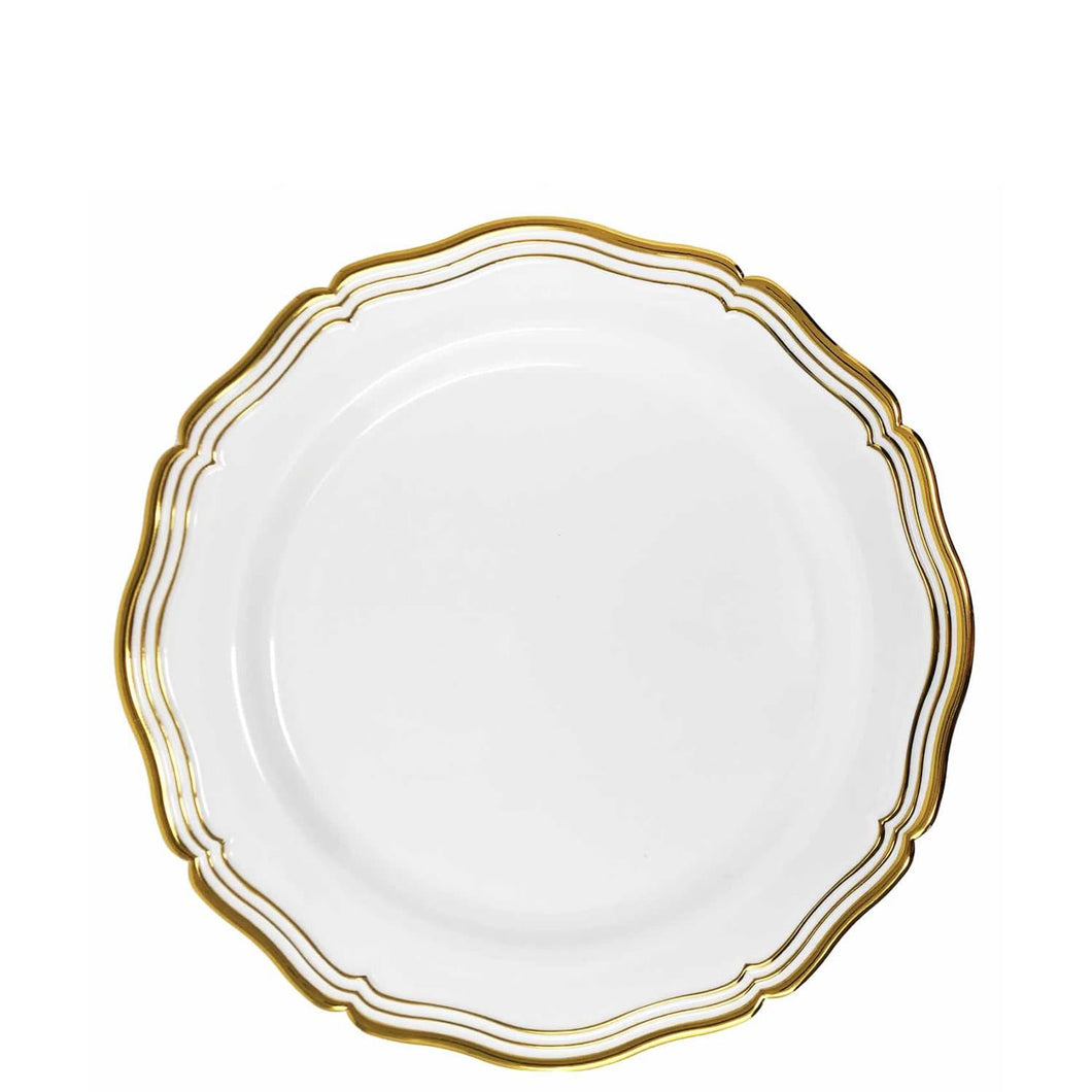 Aristocrat Collections Salad Plate White & Gold 7.5