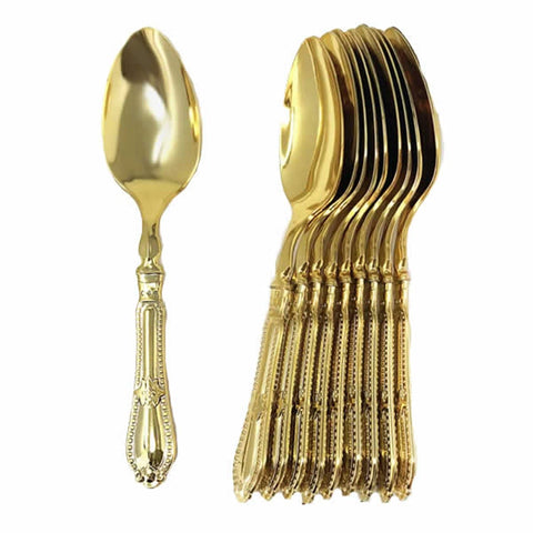 Luxury Baroque Collection Gold Spoons