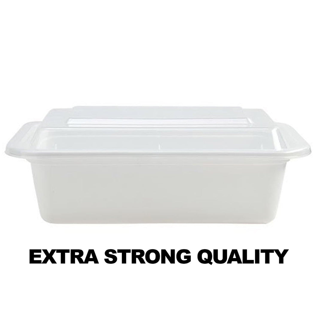 Extra Strong Quality Microwaveable Rectangular Containers 7X5