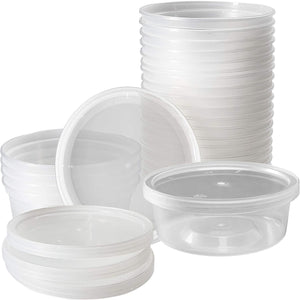 Nicole Home Collection Food Storage Containers With Lids Clear 10 oz 7Ct