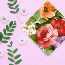 Floral Devotion Disposable Lunch Paper Napkins