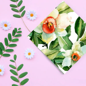 Flower Shower Disposable Lunch Paper Napkins