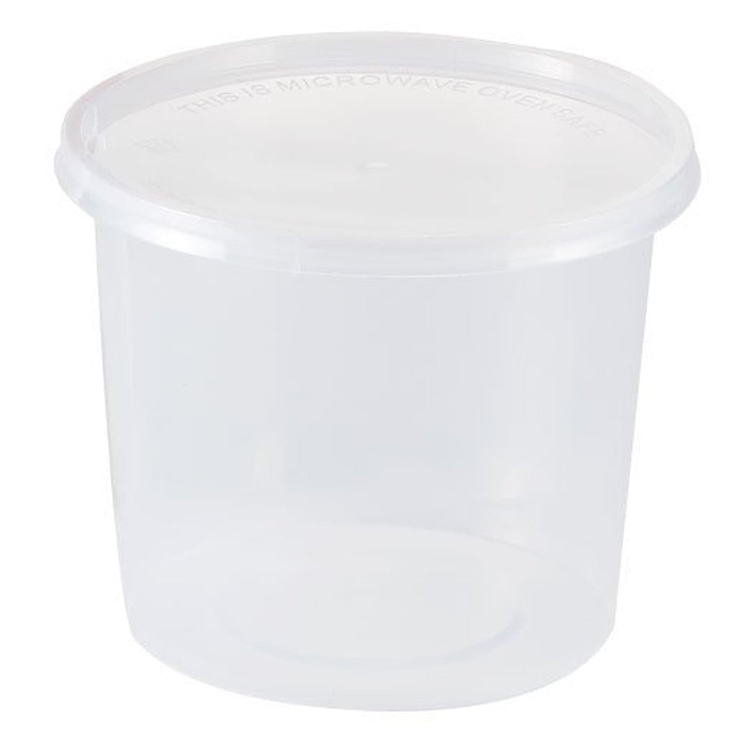 Food Storage Container Round Clear 25 oz 5Ct Nicole Collection