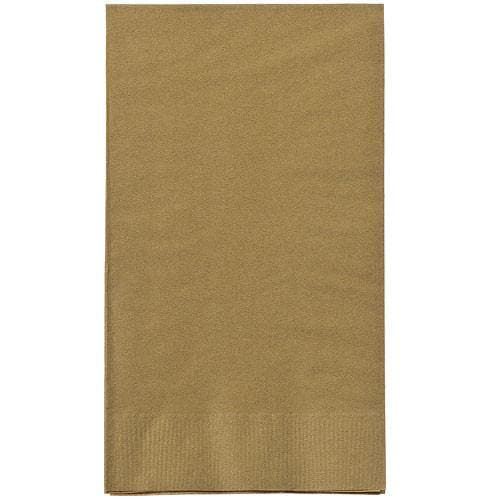 Gold Guest Towels Party Dimensions