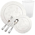 D'VINE COLLECTION ELEGANT CLEAR PLASTIC TABLEWARE PACKAGE