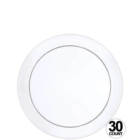 Buffet Heavyweight plastic Plate Clear 6' 40Ct