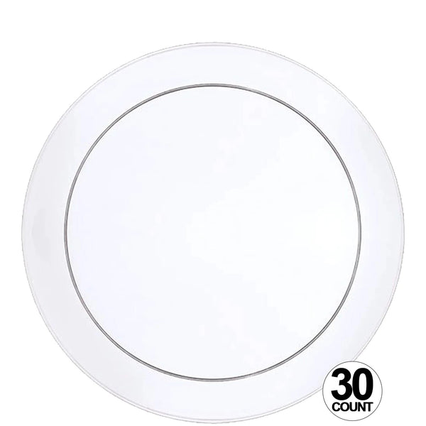 "Buffet Heavy Weight Plastic Plate Clear 9"" 30Ct"