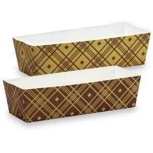 "Premium Quality Paper Brown Tan Baking Pan 7""x2.5""x2"""