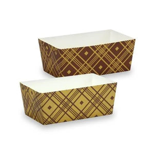 "Premium Heavy Weight Paper Plaid Loaf Pans 4.5""x2.25""x2"""