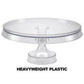 Premium Extra Heavyweight Clear Cake Plastic Stands 10.5