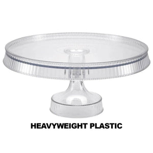 Premium Extra Heavyweight Clear Cake Plastic Stands 10.5""