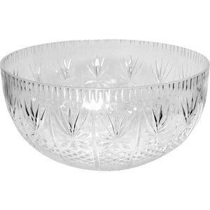 6 Crystal 12quart Premium Heavy Weight Plastic Clear Punch Bowl