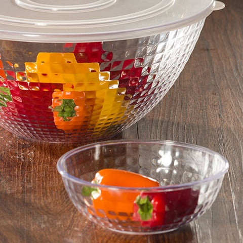 12  oz Clear Crystal Plastic Bowl 6Pk
