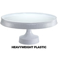 Premium Extra Heavyweight White Cake Plastic Stands 10.5
