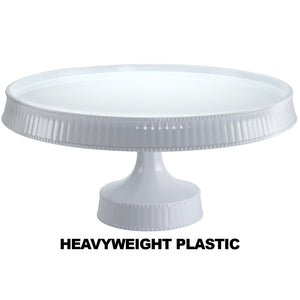 Premium Extra Heavyweight White Cake Plastic Stands 10.5""