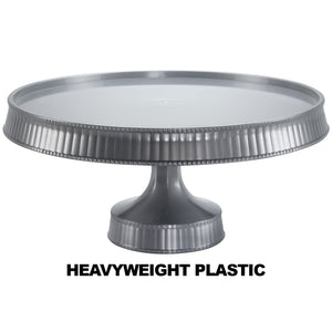 Premium Extra Heavyweight Silver Cake Plastic Stands 10.5""